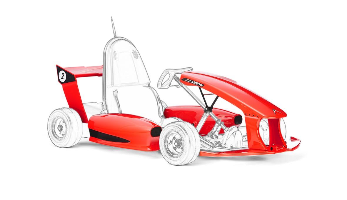 Formula Racecar Body Kit - Red